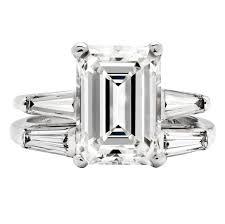 emerald cut wedding set 3 26 carat emerald cut diamond platinum wedding set at 1stdibs
