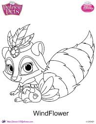 disney princess palace pets windflower coloring skgaleana