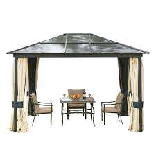 amazon com outsunny 12 u0027 x 10 u0027 outdoor patio canopy party gazebo