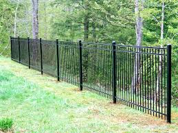 ornamental steel aluminum hill fence