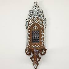 Moroccan Wall Sconce Mediterranean Levantine Syrian Furniture Inlaid With Of