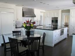 awesome two tone color of white kitchen cabinets with dark floors