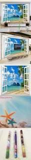 3d stereo window sea view nature scenery fresco living room tv