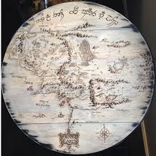 Map Of Mordor I Wood Burnt The Map Of Middle Earth Into My Kitchen Table Imgur