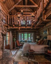 beautiful log home interiors 35 gorgeous log cabin style bedrooms to make you drool