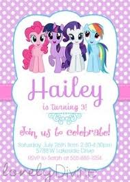 free printable invitations u2013 my little pony party pinterest