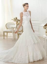 high neck wedding dresses mermaid high neck sleeveless chapel lace wedding dress