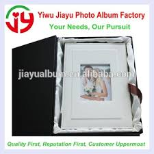 Wedding Photo Album 5x7 13x18cm Family Use White And Black Pu Leather Cover Album With