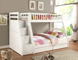 Cot Bunk Beds Bed With Storage Space Cot With Storage White Staircase Bunk Bed