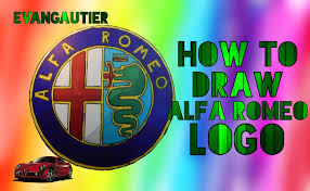 alfa romeo emblem how to draw alfa romeo logo evangautier youtube