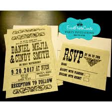 wedding invitations rsvp wanted poster invitation rsvp set wedding western scroll invites