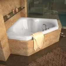 venzi tovila 60 x 60 corner bathtub with center drain