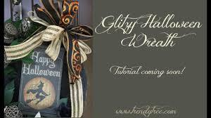 Halloween Wreath Tutorial by Preview Glitzy Halloween Wreath Tutorial By Trendy Tree Youtube