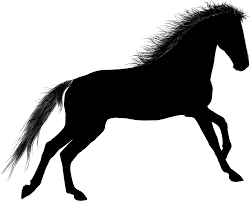 mustang horse silhouette clipart horse silhouette 4