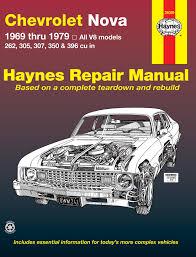 chevrolet nova 69 79 v8 haynes repair manual haynes manuals
