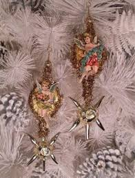 Antique Victorian Christmas Ornaments - antique victorian christmas snow baby die cut scrap paper