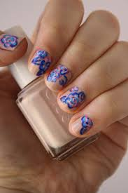 abstract floral nail art design sunshine citizen