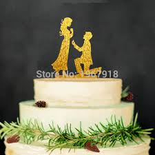 engagement cake toppers propose custom wedding groom cake topper acrylic