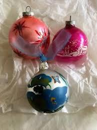 lot 3 vintage shiny bright ornaments silent