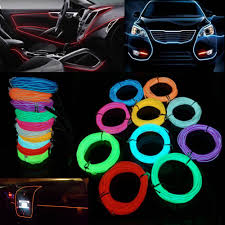 online shop 1m 2m 3m 5m car decor 12v lighter led lamp strip