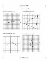 dilations worksheets worksheets releaseboard free printable