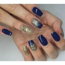 cute gel acrylics blue and gold cute nail designs pinterest
