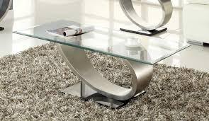 Chrome And Glass Sofa Table Homelegance Silvera Sofa Table Brushed Chrome 3449 05