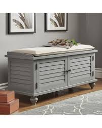 deal alert homevance kiely storage bench u0026 cushion 2 piece set grey