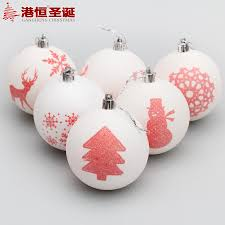 factory wholesale hong kong hang christmas decorations 8cm white