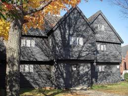 front of the witch house in salem massachusetts picture of the
