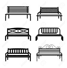 Urban Benches Vector Benches Benches Black Silhouettes Bench Street For City