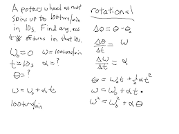 rotational motion kinematic equations