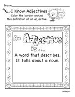 adjective worksheets edhelper com