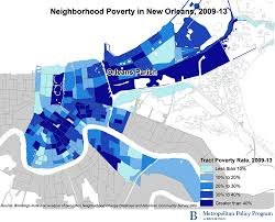 New Orleans On Map Concentrated Poverty In New Orleans 10 Years After Katrina