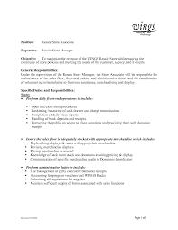 Clerical Sample Resume by Retail Stock Clerk Sample Resume Procedure Templates