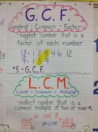 lcm and gcf worksheet google search mathematics number sense