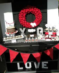 Bridal Shower Table Decorations Red Black And White Birthday Decorations Image Inspiration Of