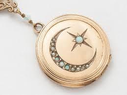 antique necklace pendant images Antique locket necklace gold filled locket locket pendant with jpg