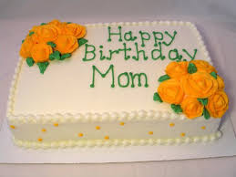 birthday mom cake with yellow flowers design