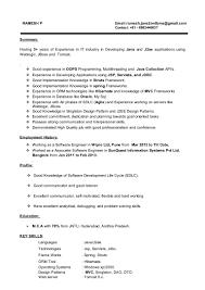 Sample Resume For Java J2ee Developer Spring Hibernate Resume Virtren Com