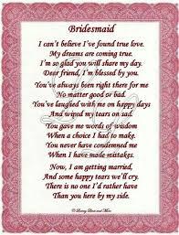 asking bridesmaids poems