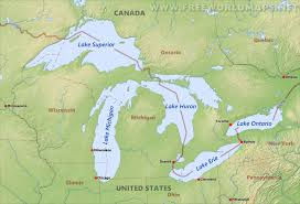 Us Map Topography Great Lakes Maps