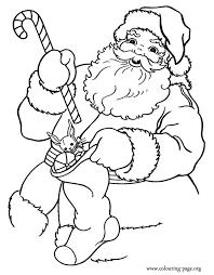 christmas santa claus holding gifts coloring