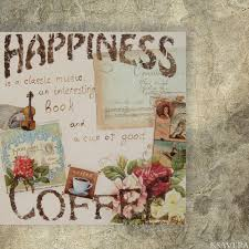 shabby chic decor coffee 4 decoupage on canvas art