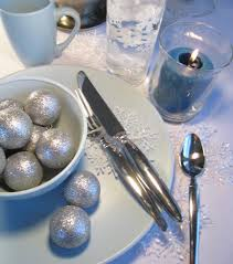 Blue Christmas Table Decoration Ideas by Christmas Table Settings Cooking Quarters