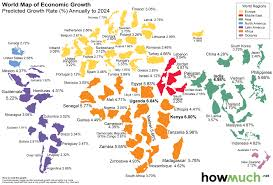 Map Of The World Countries This World Map Shows The Economic Growth Over The Coming Decade
