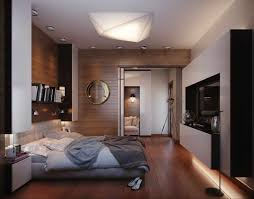 Wood Floor Decorating Ideas Classy Double Bed On Wooden Floor Under Interesting Lighting Near