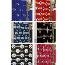 Nfl Shower Curtains Nfl Shower Curtain Sports Footbal Team Logo Bathroom Accessory