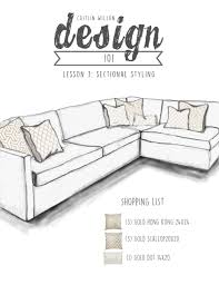 caitlin wilson design 101 lesson 3 sectional styling