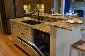 sink island kitchen kitchen island design with dishwasher handy home design